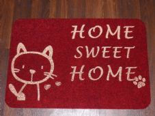 NON SLIP CATS DOORMATS 40X60CM RUBBER BACKING GOOD QUALITY ALL COLOURS RED/GOLD